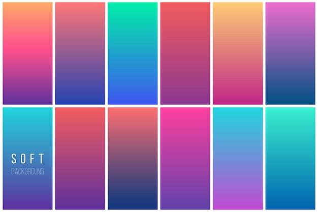 Collection de fond abstrait vector coloré Vecteur gratuit