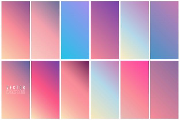 Collection de fond coloré abstrait Vecteur gratuit