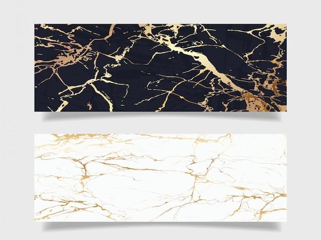 Collection De Fond De Texture De Marbre De Luxe Vecteur Premium