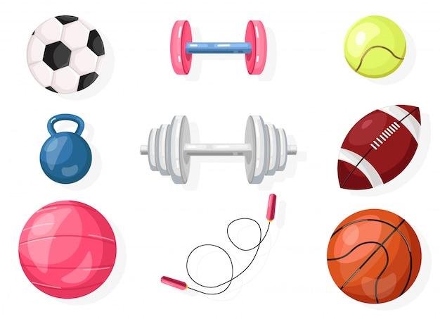 Collection de football, rugby, basket Vecteur Premium