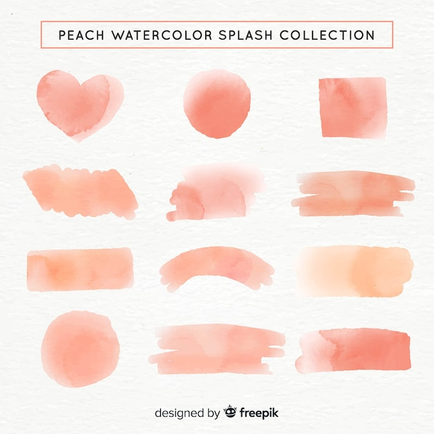 Collection de formes aquarelles Vecteur gratuit