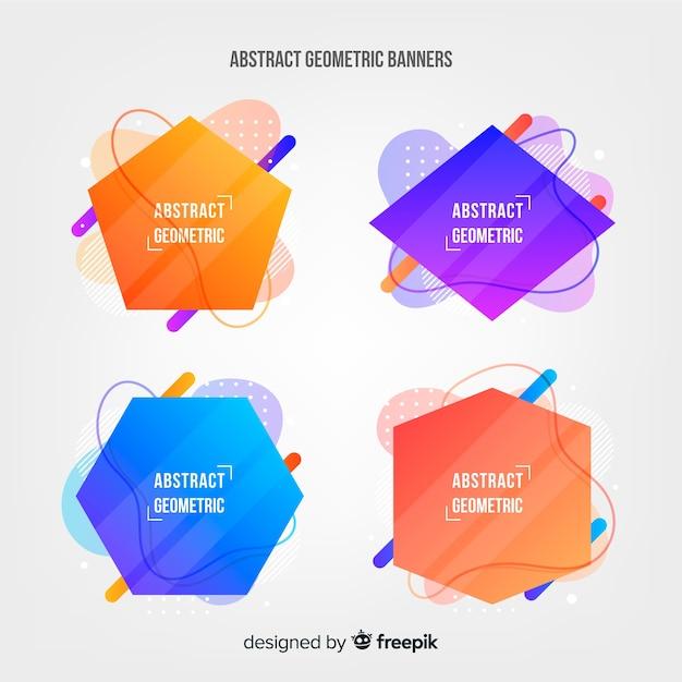 Collection géométrique abstraite Vecteur gratuit