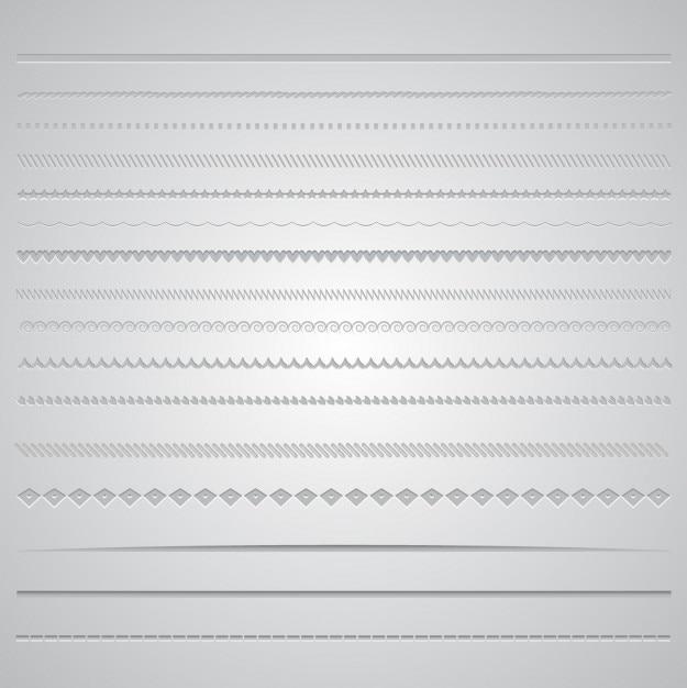 Collection gris frontière Vecteur gratuit