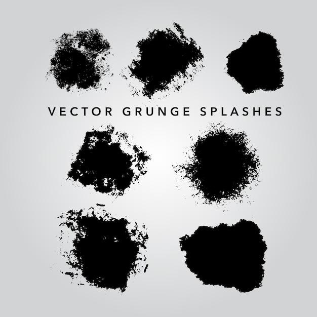 La Collection Grunge éclabousse Vecteur gratuit