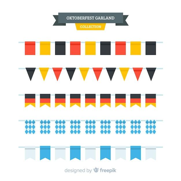 Collection de guirlande oktoberfest au design plat Vecteur gratuit