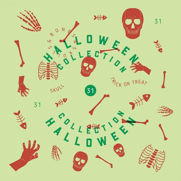 Collection halloween Vecteur Premium