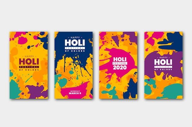 Collection D'histoires Sur Le Festival Holi Vecteur gratuit