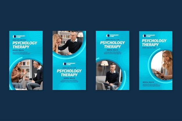 Collection D'histoires Instagram Pour La Thérapie Psychologique Vecteur gratuit