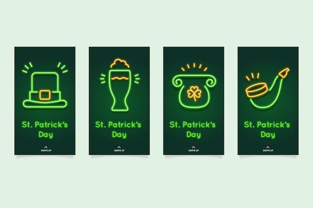 Collection D'histoires Instagram De La Saint-patrick Vecteur gratuit