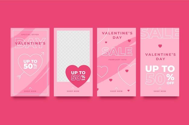 Collection D'histoires De La Saint-valentin Vecteur gratuit