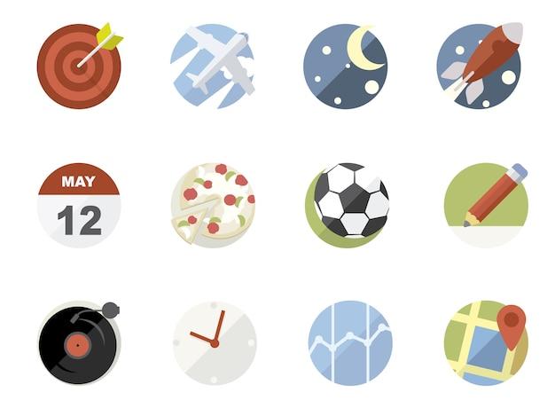 Collection d'icônes d'applications de téléphonie mobile Vecteur gratuit