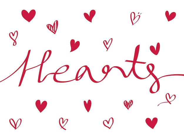 Collection d'icônes de coeur illustrés Vecteur gratuit