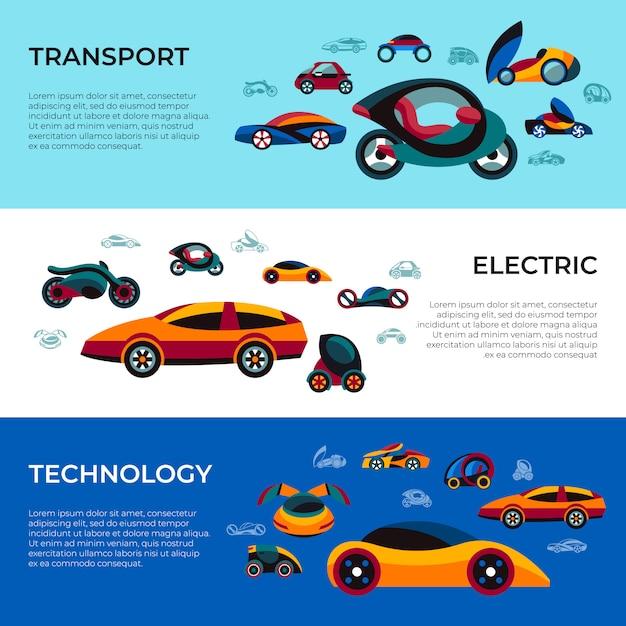 Collection d'icônes de voiture future concept Vecteur Premium