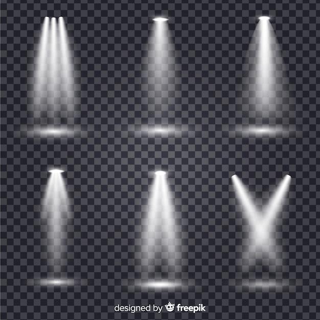 Collection d'illumination de scène Vecteur gratuit