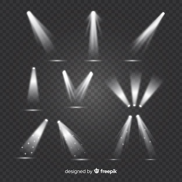 Collection d'illumination de scènes réalistes Vecteur gratuit