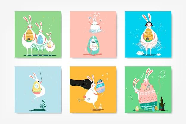 Collection d'illustration fête de pâques Vecteur gratuit