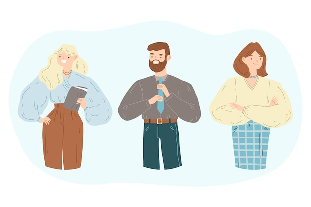 Collection D'illustration De Gens Confiants Vecteur gratuit