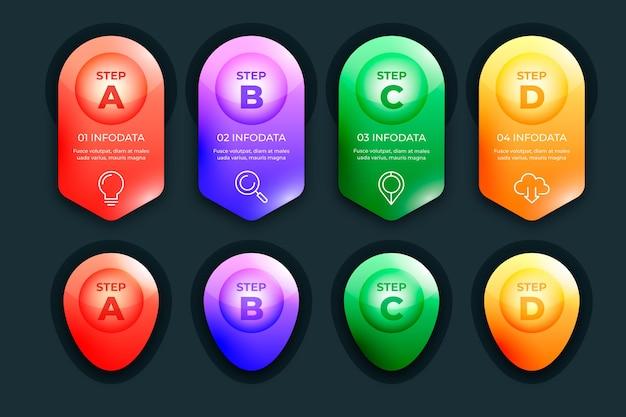 Collection D'infographie Brillante 3d Vecteur gratuit