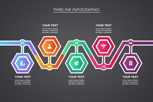 Collection D'infographie Chronologique Vecteur gratuit