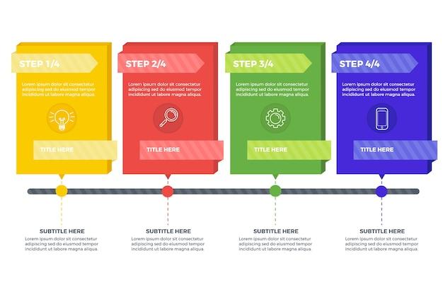 Collection Infographique D'étapes Vecteur gratuit
