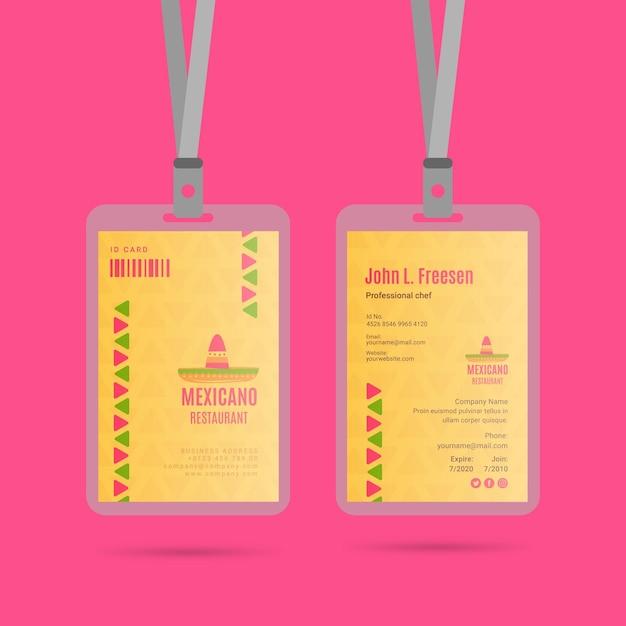 Collection D'insignes De Restaurant Mexicain Vecteur gratuit
