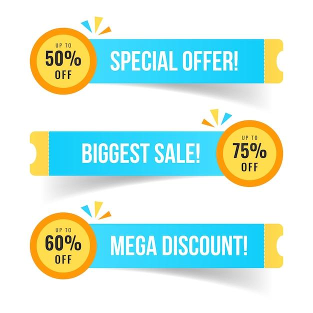Collection d'insignes de vente moderne Vecteur Premium
