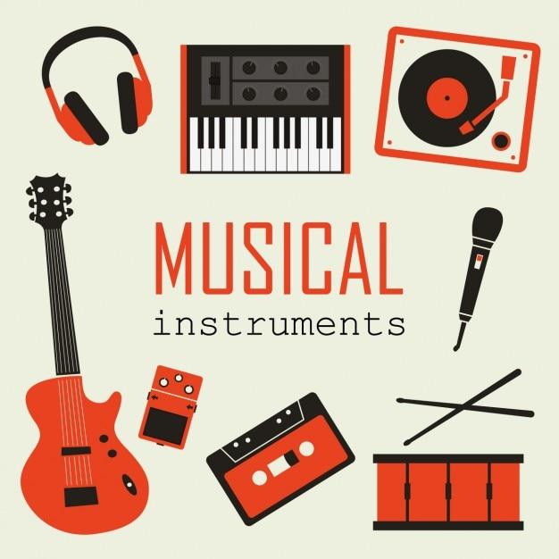 Collection d'instruments de musique Vecteur gratuit