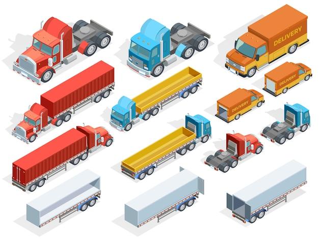 Collection isométrique de véhicules Vecteur gratuit