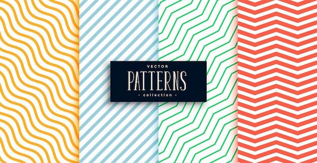 Collection de jeu de motifs de lignes minimales géométriques Vecteur gratuit