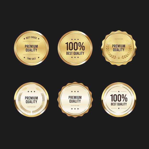 Collection De Labels De Qualité Vecteur Premium