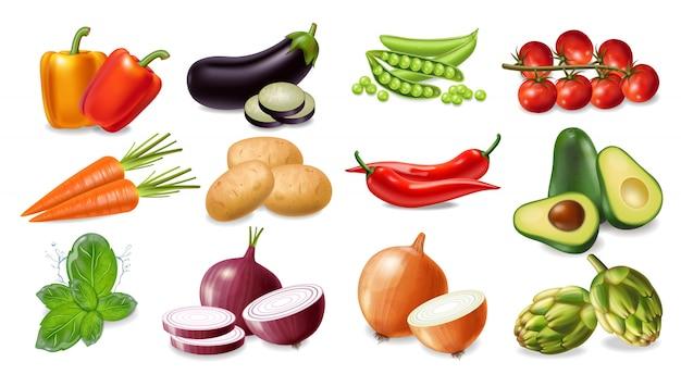 Collection De Légumes Vecteur Premium