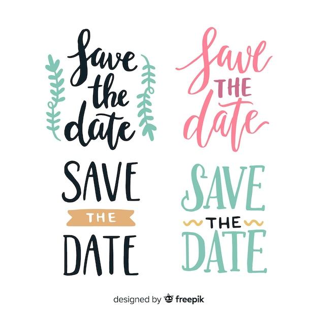 Collection de lettres pour mariage Vecteur gratuit