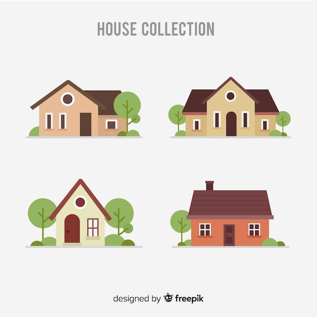 Collection De Logement Vecteur gratuit