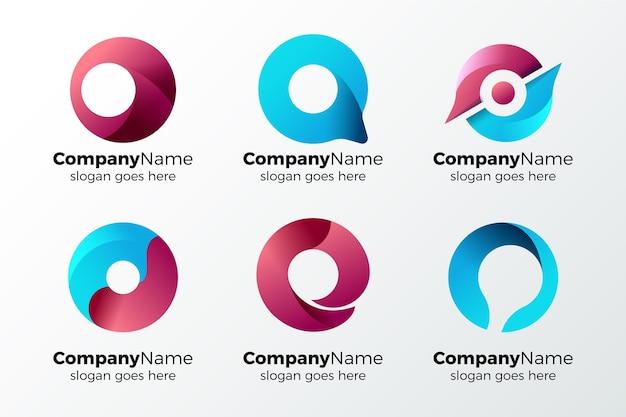 Collection De Logo Alphabétique Lettre O Vecteur gratuit