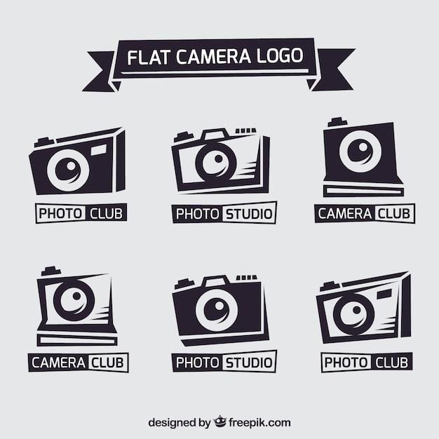 Collection De Logo D'appareil Photo Plat Vecteur gratuit