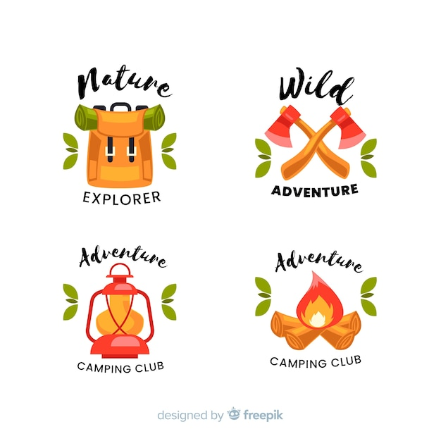 Collection de logo d'aventure Vecteur gratuit