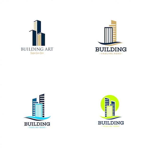 Collection de logo de bâtiment Vecteur Premium