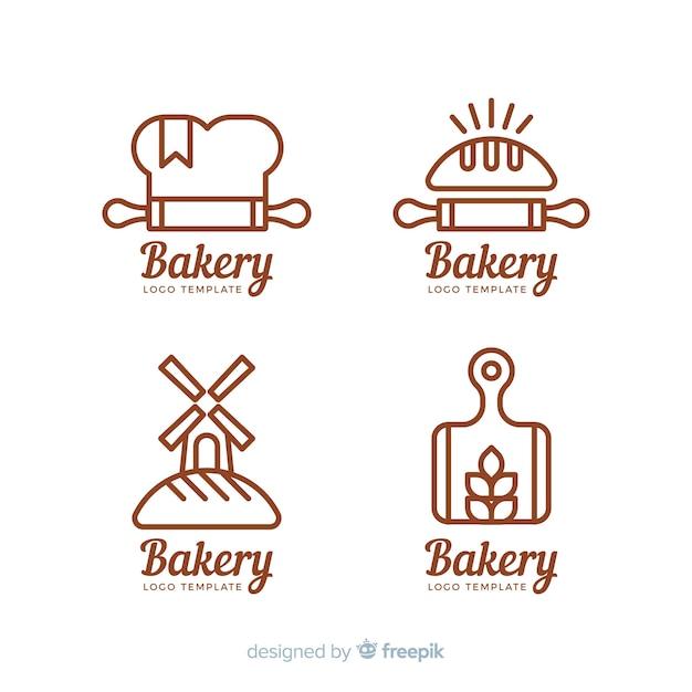 Collection De Logo De Boulangerie Vecteur gratuit