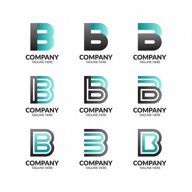 Collection De Logo Créatif Lettre B Vecteur Premium