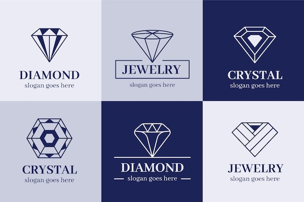 Collection De Logo De Diamant Vecteur gratuit