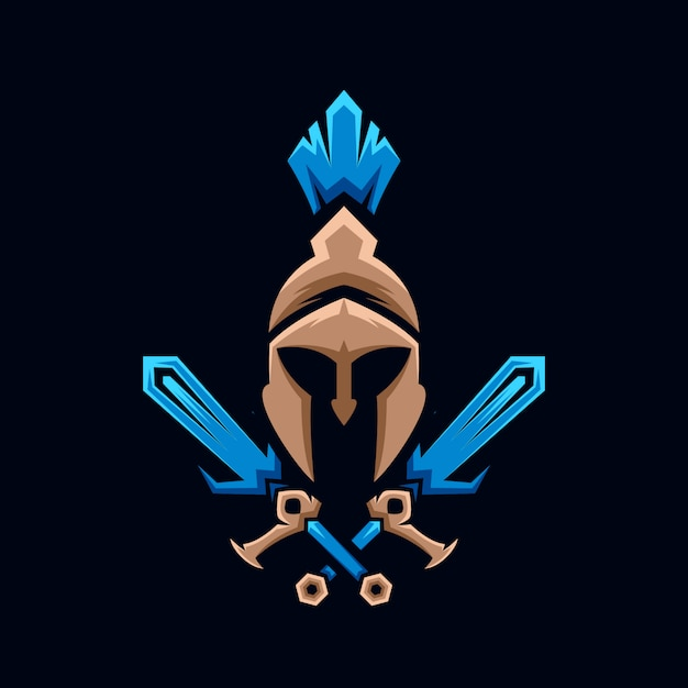 Collection de logo épée spartiate Vecteur Premium