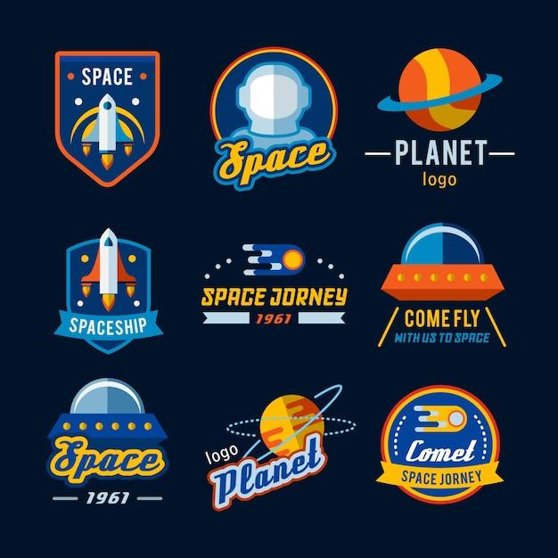 Collection de logo de l'espace Vecteur Premium