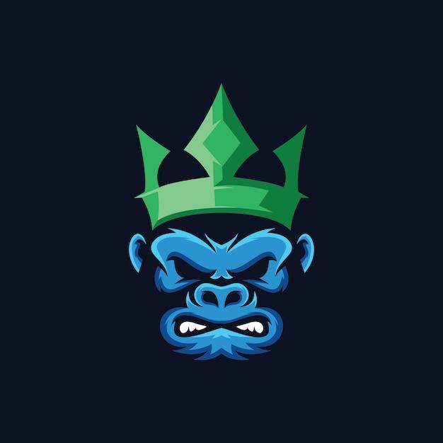 Collection de logo de gorille Vecteur Premium
