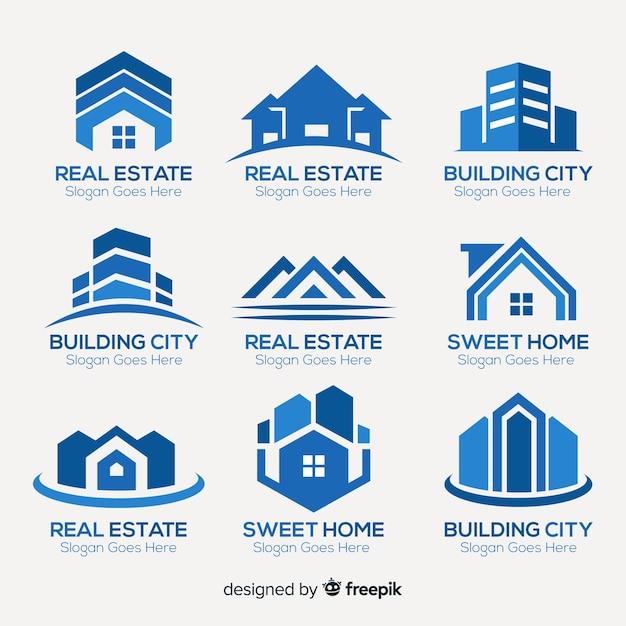 Collection de logo immobilier Vecteur gratuit