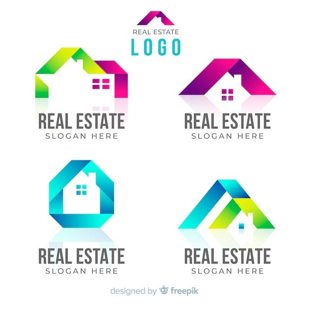 Collection De Logo Immobilier Vecteur Premium