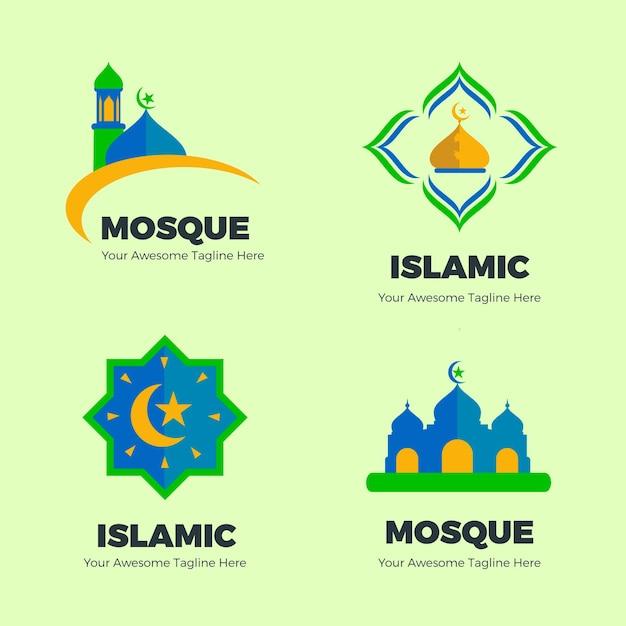 Collection De Logo Islamique Vecteur Premium