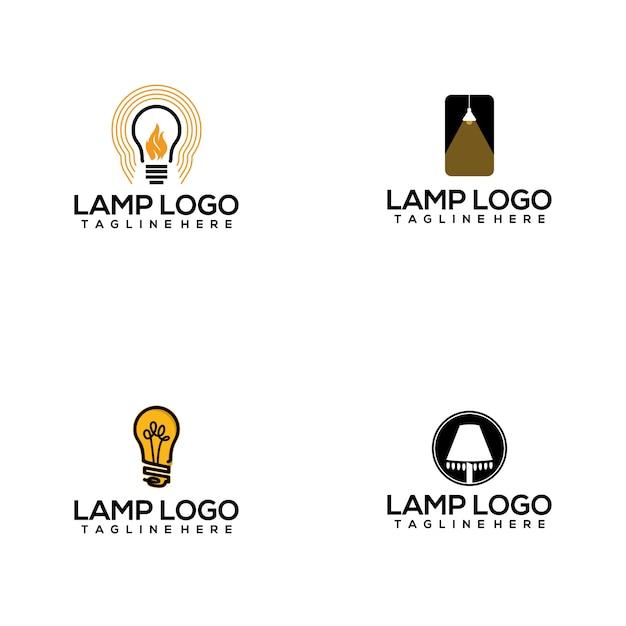 Collection de logo de lampe Vecteur Premium