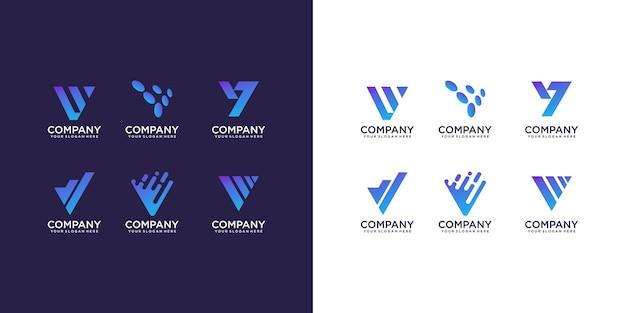 Collection De Logo Lettre V Vecteur Premium