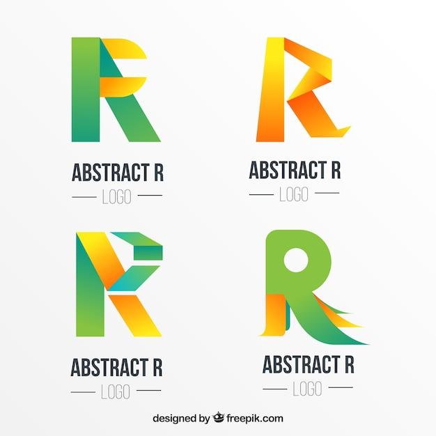 Collection logo logo lettre abstraite Vecteur gratuit
