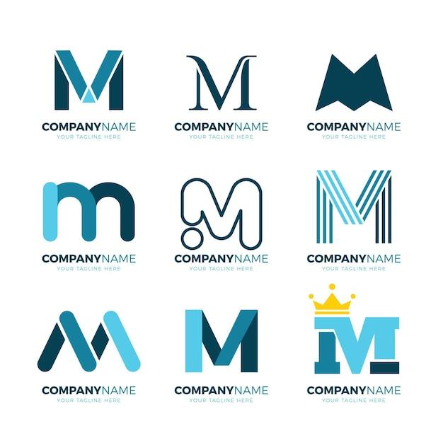 Collection De Logo M Vecteur Premium